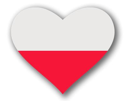 ポーランド共和国の国旗-ハート