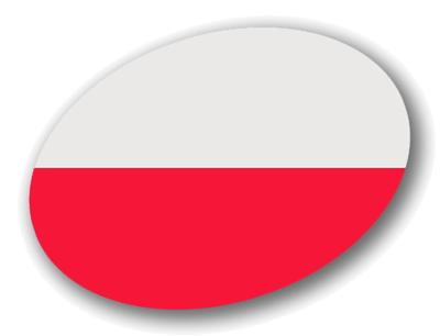 ポーランド共和国の国旗-楕円
