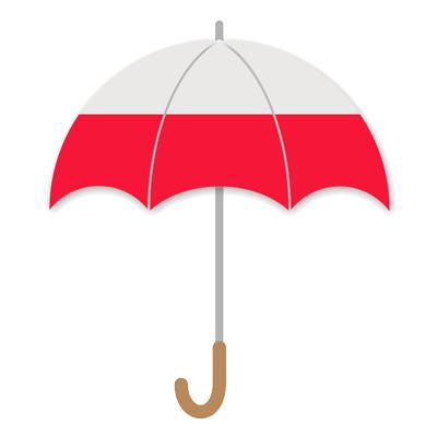 ポーランド共和国の国旗-傘