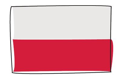 ポーランド共和国の国旗-グラフィティ