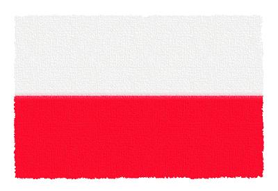 ポーランド共和国の国旗-パステル