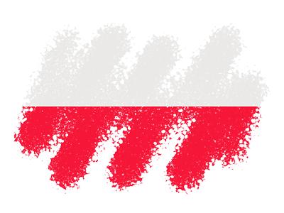 ポーランド共和国の国旗-クレヨン1