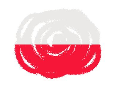 ポーランド共和国の国旗-クラヨン2