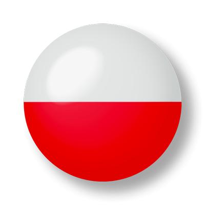 ポーランド共和国の国旗-ビー玉