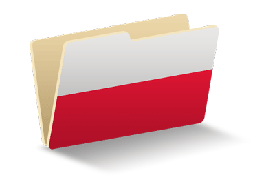 ポーランド共和国の国旗-フォルダ