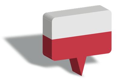 ポーランド共和国の国旗-マップピン