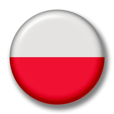 ポーランド共和国の国旗-缶バッジ