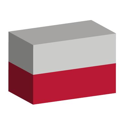 ポーランド共和国の国旗-積み木