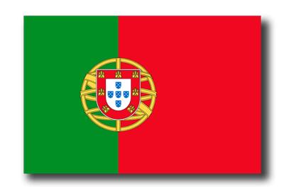 ポルトガル共和国の国旗-ドロップシャドウ