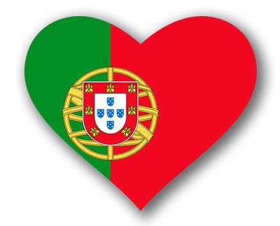 ポルトガル共和国の国旗-ハート