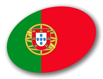 ポルトガル共和国の国旗-楕円