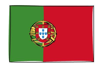 ポルトガル共和国の国旗-グラフィティ