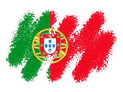 ポルトガル共和国の国旗-クレヨン1