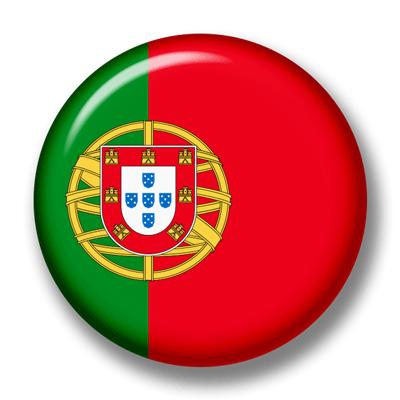ポルトガル共和国の国旗-缶バッジ