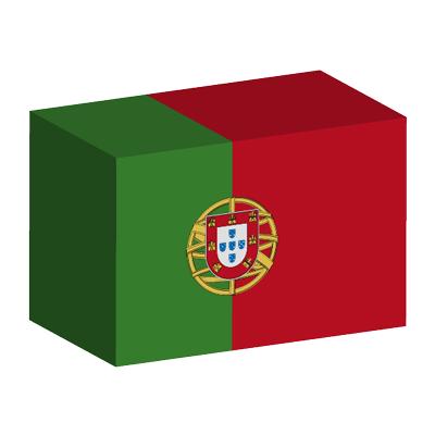 ポルトガル共和国の国旗-積み木