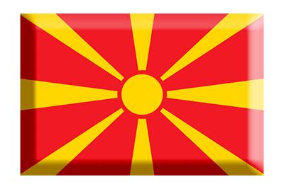 マケドニア旧ユーゴスラビア共和国の国旗-板チョコ