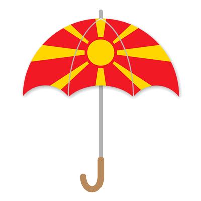 マケドニア旧ユーゴスラビア共和国の国旗-傘