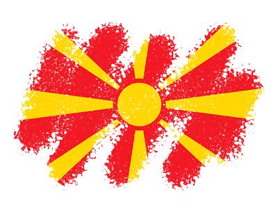 マケドニア旧ユーゴスラビア共和国の国旗-クレヨン1