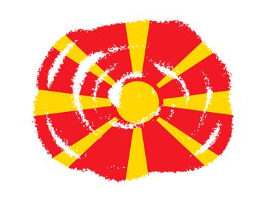 マケドニア旧ユーゴスラビア共和国の国旗-クラヨン2