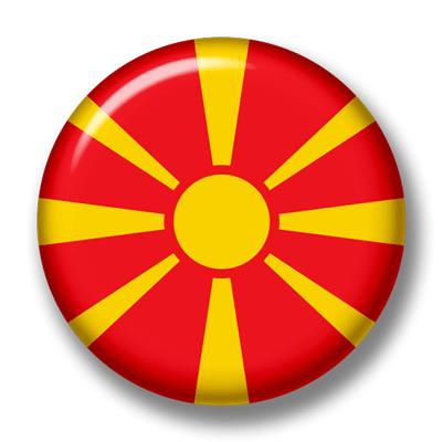 マケドニア旧ユーゴスラビア共和国の国旗-缶バッジ