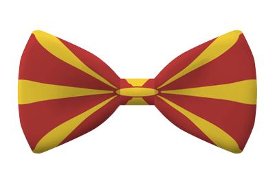 マケドニア旧ユーゴスラビア共和国の国旗-蝶タイ