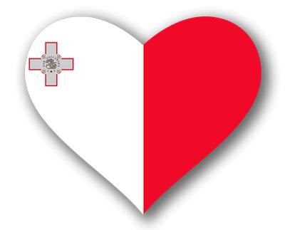 マルタ共和国の国旗-ハート