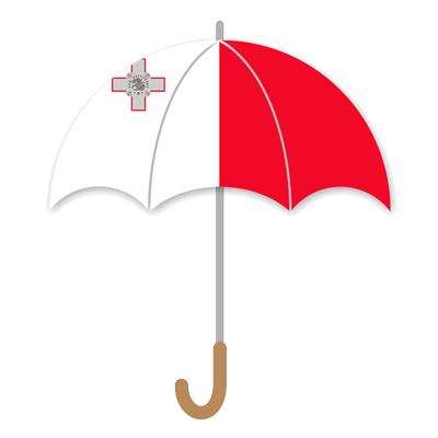 マルタ共和国の国旗-傘