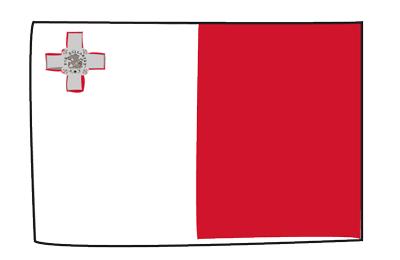 マルタ共和国の国旗-グラフィティ