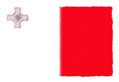 マルタ共和国の国旗-パステル