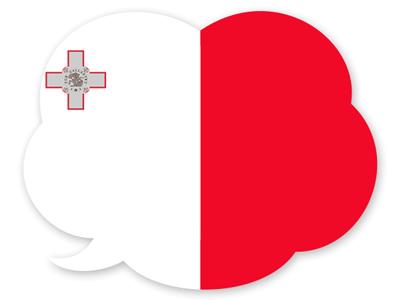 マルタ共和国の国旗-吹き出し