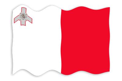 マルタ共和国の国旗-波