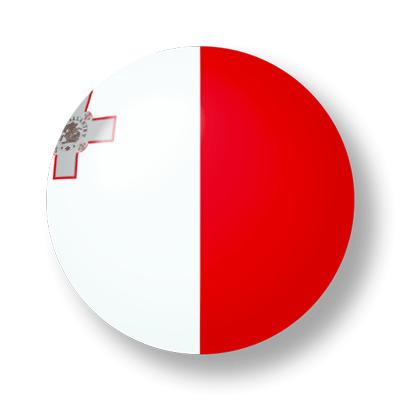 マルタ共和国の国旗-ビー玉