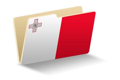 マルタ共和国の国旗-フォルダ