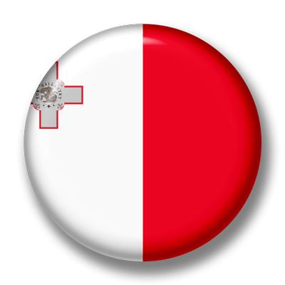 マルタ共和国の国旗-缶バッジ