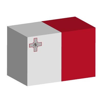 マルタ共和国の国旗-積み木