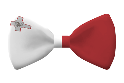 マルタ共和国の国旗-蝶タイ