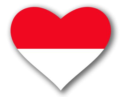 モナコ公国の国旗-ハート