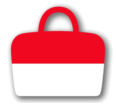 モナコ公国の国旗-バッグ