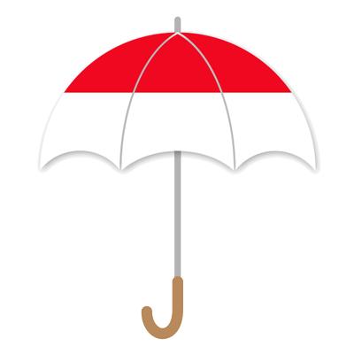 モナコ公国の国旗-傘