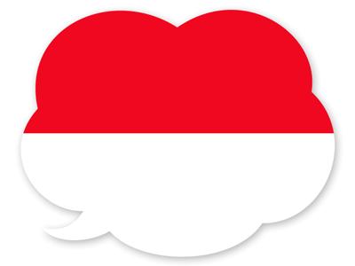 モナコ公国の国旗-吹き出し
