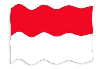 モナコ公国の国旗-波
