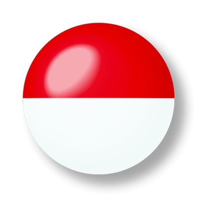 モナコ公国の国旗-ビー玉