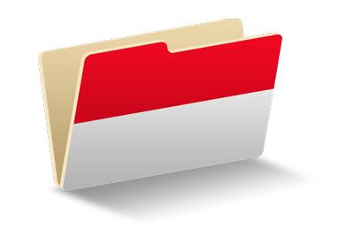 モナコ公国の国旗-フォルダ
