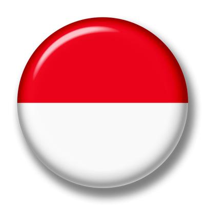 モナコ公国の国旗-缶バッジ