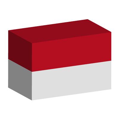 モナコ公国の国旗-積み木