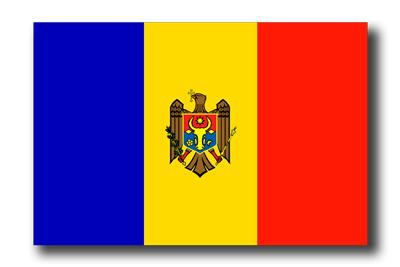 モルドバ共和国の国旗-ドロップシャドウ