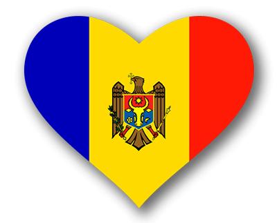 モルドバ共和国の国旗-ハート
