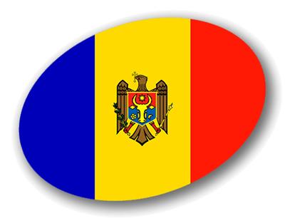 モルドバ共和国の国旗-楕円