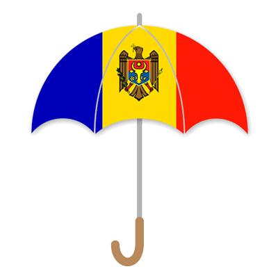 モルドバ共和国の国旗-傘