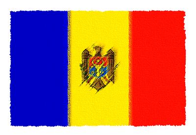 モルドバ共和国の国旗-パステル